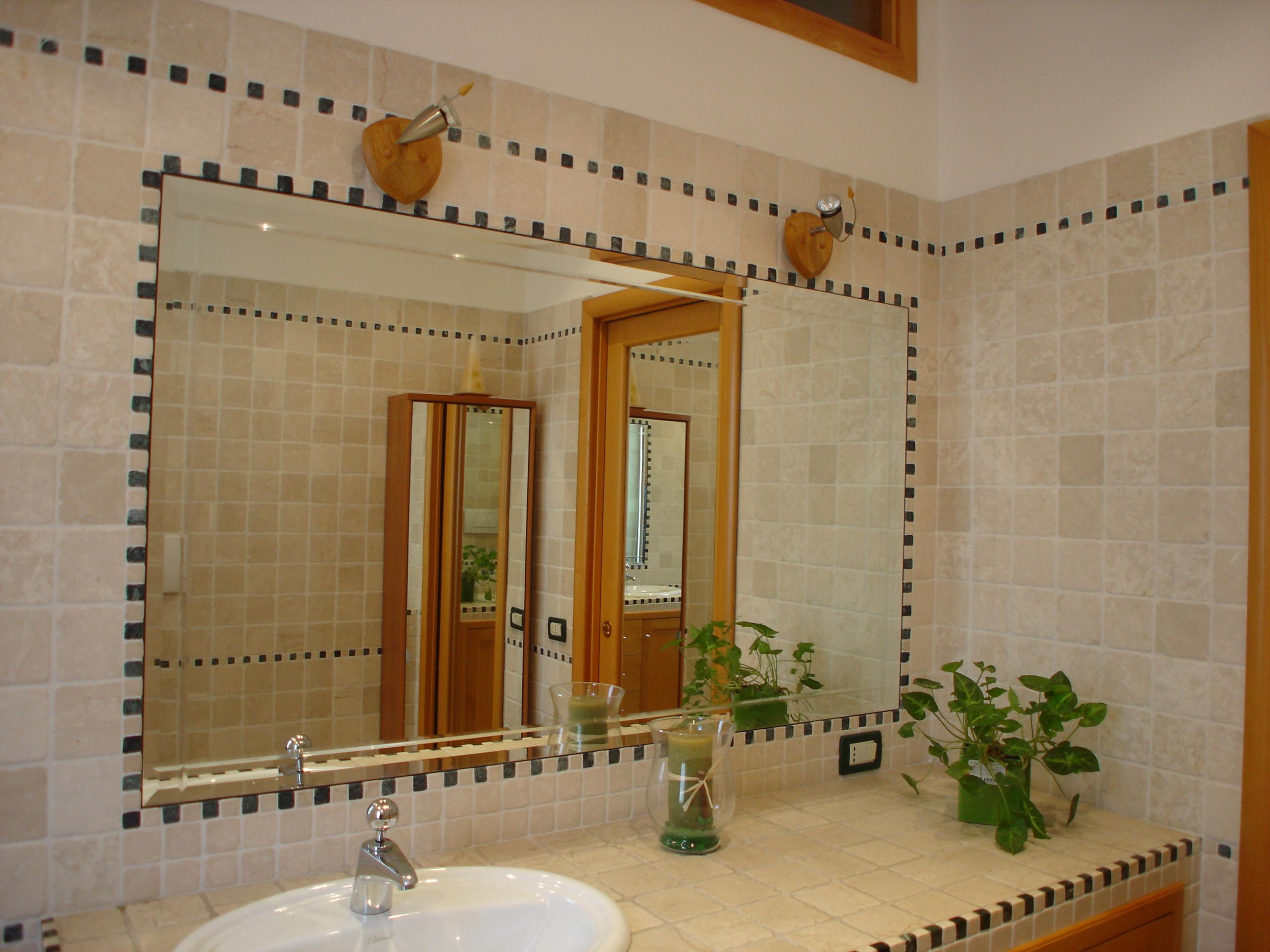 Box doccia specchi rivestimenti in vetro vetreria roma - Specchio bagno incassato ...