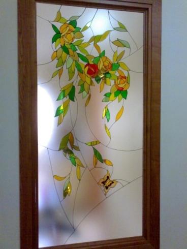 Porte in cristallo decorate